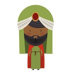 Colorful arabic man with turban and beard vector
