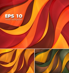 Curvy abstract background 1 vector image
