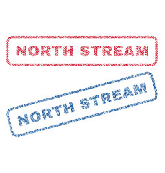 North stream textile stamps vector
