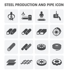 Stel metal icon vector