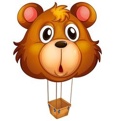 A brown bear balloon vector image