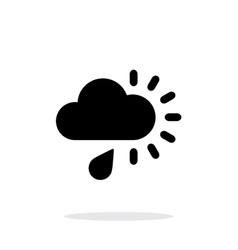 Cloudy with rain weather icon on white background vector