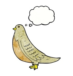 Cartoon common bird with thought bubble vector
