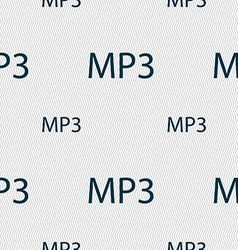Mp3 music format sign icon musical symbol seamless vector