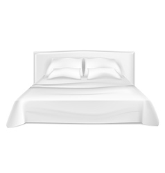 White bed vector