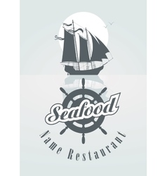 Menu for the seafood vector
