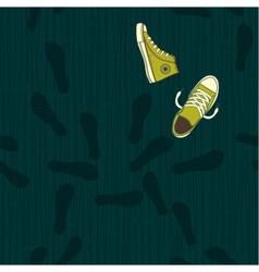 shoe path vector image