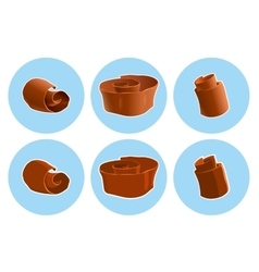 Chocolate shavings icon vector
