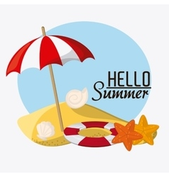 Summer design vacation icon colorful vector