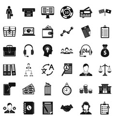 All day business icons set simple style vector