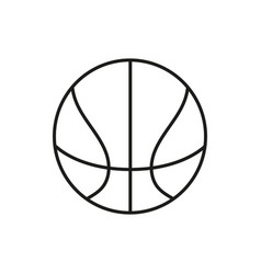 Basketball ball outline in white background vector