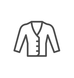 Cardigan line icon vector