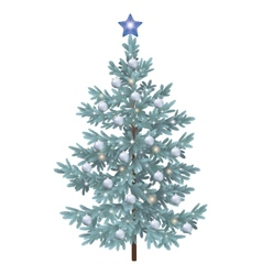 Christmas spruce fir tree with ornaments vector