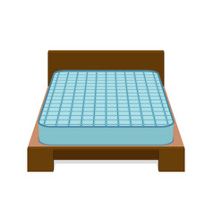 comfortable mattress for sleeping on the bed vector image vector image