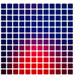 Deep blue and red rounded mosaic background over vector