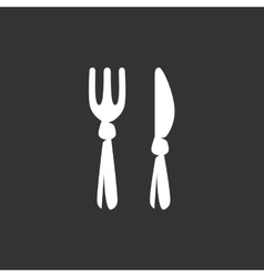 Fork and knife Icon logo vector image