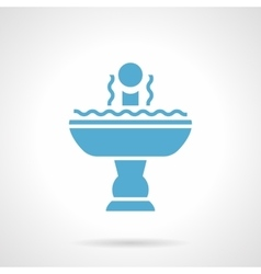 Full fountain glyph style icon vector