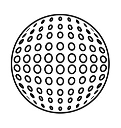 golf ball isolated icon vector image
