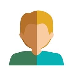 half body boy half blonde and caucasian vector image vector image