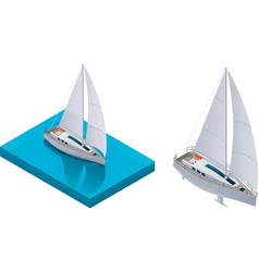 Isometric yacht vector
