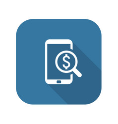M-commerce icon business concept flat design vector