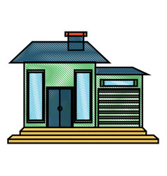 modern house icon image vector image