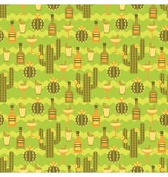 seamless pattern with traditional Mexican vector image vector image
