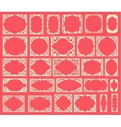 Set of black vintage frames design elements vector image vector image