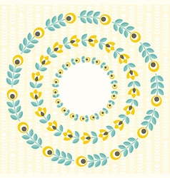 Set of design elements - round floral frames vector