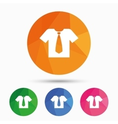 Shirt with tie sign icon Clothes symbol vector image vector image
