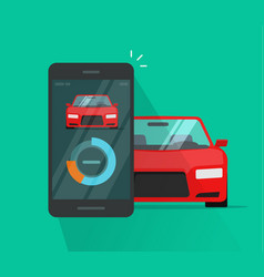 Smart car and smartphone dashboard system data vector