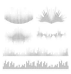 Sound waves design vector image