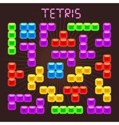 Tetris elements in flat design style vector