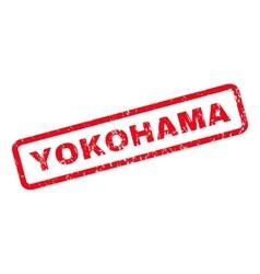 Yokohama rubber stamp vector