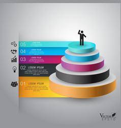 Business Infographics pyramid can be used for vector image