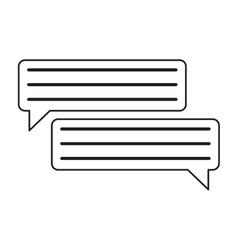 Bubbles speech dialog speak text outline vector