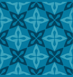 Blue moroccan ornamental ceramic tile vector