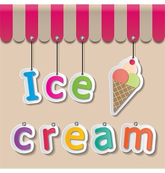 Icecream shopfront sign vector