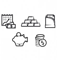 Finance and economics symbols vector