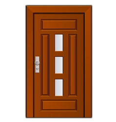 Modern entrance door vector