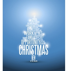 Abstract christmas card with season words vector