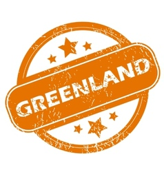 Greenland grunge icon vector
