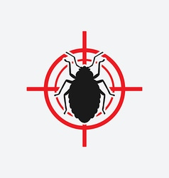 Bug icon red target vector