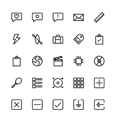 User interface colored line icons 6 vector