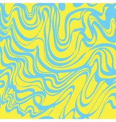 Abstract blue and yellow moire bubble gum pattern vector image
