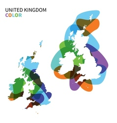 Abstract map of United Kingdom isolated on white vector image