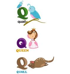 alphabet letter - Q vector image