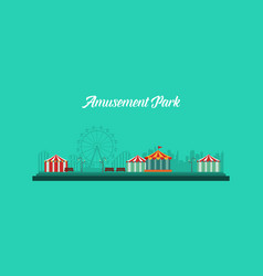 Background amusement park and carnival vector