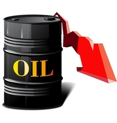 Barrel of oil and the falling prices vector