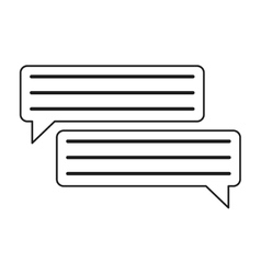 Bubbles speech dialog speak text outline vector